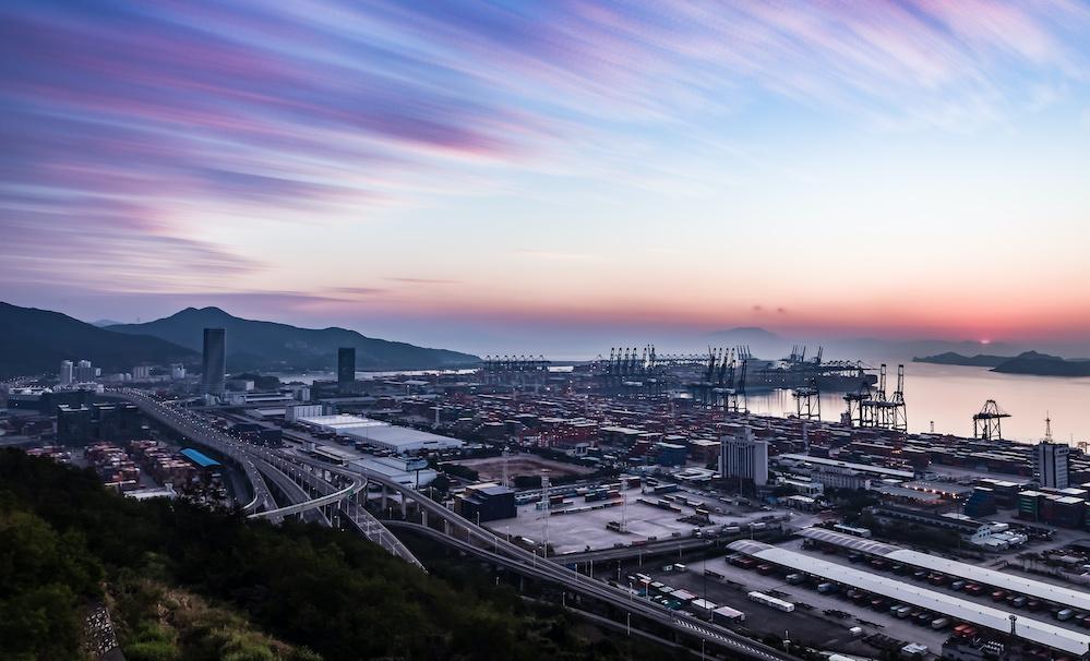 Shenzhen Yantian Port Sunrise